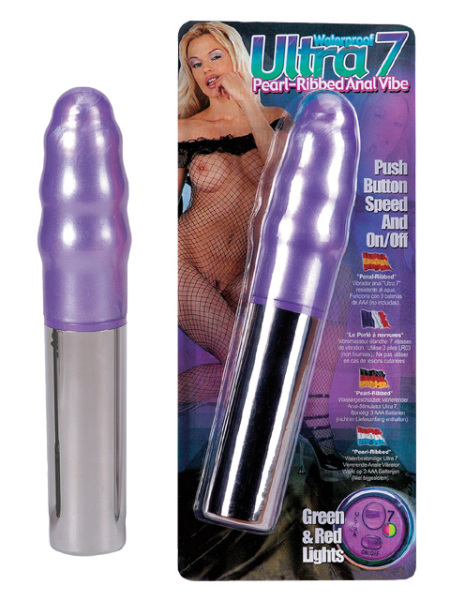 2K599-D5-bcd Ultra7 Pearl-Ribbed Anal Vibe